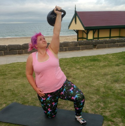 Body Positive Health and Fitness Mobile Kettlebell Training emily